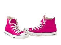 Cru arrêtant les chaussures roses Images libres de droits