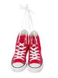Cru arrêtant les chaussures rouges Photos libres de droits