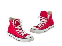 Cru arrêtant les chaussures rouges Photo stock