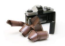 cru de bande de film d'appareil-photo vieux Images libres de droits