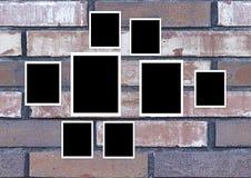Cru de cadre de photo sur le mur illustration de vecteur