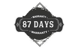 cru de conception de garantie de 87 jours, la meilleure collection de timbre illustration de vecteur
