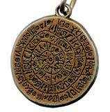 cru de mystère en métal d'amulette vieux Photographie stock libre de droits