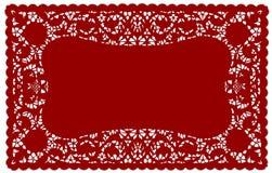 cru de place de couvre-tapis de lacet de napperon illustration libre de droits