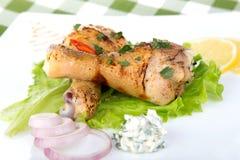 cru de poulet découpé en tranches Photo stock
