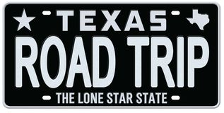 Cru de Texas License Plate Road Trip illustration de vecteur