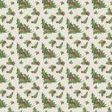 Cru Holly Distressed Christmas Background - papier de Holly Pattern - d'album à Digital illustration de vecteur