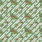 Cru Holly Distressed Stripe Christmas Background - papier de Holly Pattern - d'album à Digital illustration de vecteur