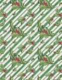 Cru Holly Distressed Striped Christmas Background - papier de Holly Pattern - d'album à Digital illustration de vecteur