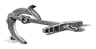 Cru Martins Anchor Engraving illustration de vecteur