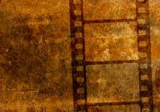 Cru pochoir de bobine de film de film de 35 millimètres illustration libre de droits