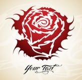 Cru Rose tribale   Image libre de droits
