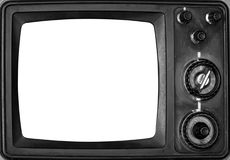 Cru TV avec l'écran d'isolement Photos stock