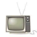 Cru TV avec l'antena illustration libre de droits