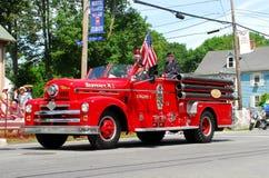 Cru vers l'ouest, Firetruck de RI Photos libres de droits