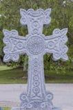 Cruce en el cementerio Fotografía de archivo libre de regalías
