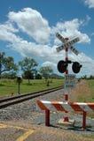 Cruce ferroviario imagen de archivo libre de regalías