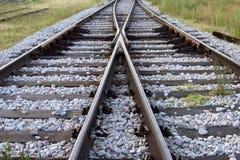 Cruce ferroviario Imágenes de archivo libres de regalías