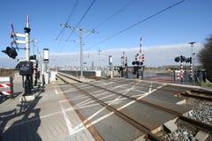 Cruce ferroviario Fotografía de archivo libre de regalías