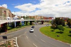 Cruce giratorio, Caceres, Extremadura, España Foto de archivo