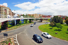 Cruce giratorio, Caceres, Extremadura, España Imagen de archivo libre de regalías