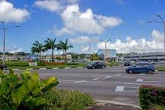 Cruce giratorio comercial del área de los vedados, Barbados imágenes de archivo libres de regalías