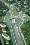 Cruce giratorio de la autopista Fotos de archivo