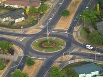 Cruce giratorio del tráfico Imagenes de archivo