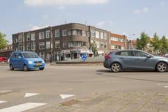 Cruce giratorio en los Países Bajos Fotografía de archivo libre de regalías
