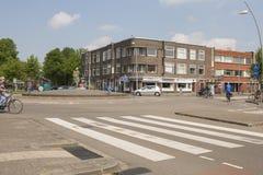 Cruce giratorio en los Países Bajos Fotos de archivo libres de regalías