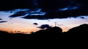 Crucefix在黎明 图库摄影