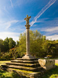 Cruceiro and medieval grave in Santiago de Taboada royalty free stock images
