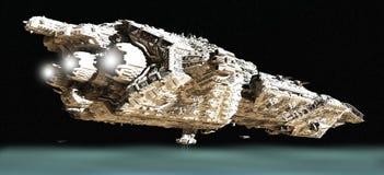 Crucero de batalla en la órbita inferior - 2 Fotos de archivo libres de regalías