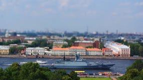 Crucero en Neva River Imagen de archivo