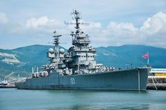 Crucero Mikhail Kutuzov en Novorossiysk Imagen de archivo