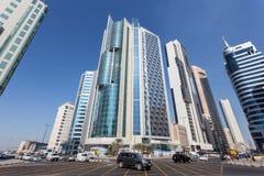 Cruces céntricos en la ciudad de Kuwait Imagen de archivo libre de regalías