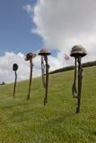 Cruces caidas de la batalla del soldado Fotografía de archivo