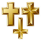 Cruces cristianas de oro masivas libre illustration