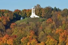 Cruces de la escultura tres en Vilna fotos de archivo libres de regalías