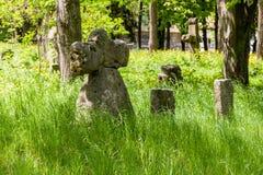 Cruces de piedra antiguas Imagen de archivo