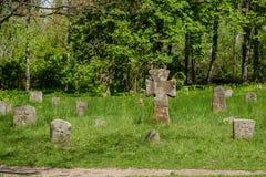 Cruces de piedra antiguas Foto de archivo libre de regalías