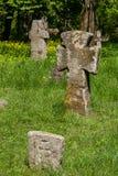 Cruces de piedra antiguas Imagen de archivo libre de regalías