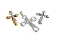 Cruces del oro Fotos de archivo