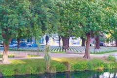 Cruces en Christchurch céntrico, Nueva Zelanda que honra los kiwis matados en la guerra mundial 1 Foto de archivo