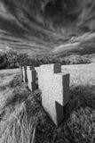 Cruces en el campo Foto de archivo libre de regalías