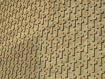 Cruces en la pared de ladrillo Imagen de archivo