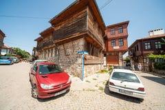 Cruces en la vieja parte de Sozopol en Bulgaria Imagen de archivo