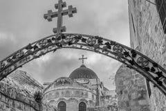 Cruces en vía dolorosa imagen de archivo