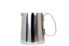 Cruche de chaudière de lait d'acier inoxydable Photo stock