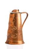 Cruche de cuivre antique Photographie stock libre de droits